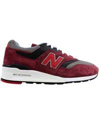 New Balance 997 Made In Usa Burgundy - Red