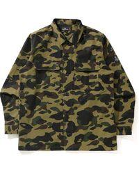 A Bathing Ape 1st Camo Military Shirt Shirt - グリーン