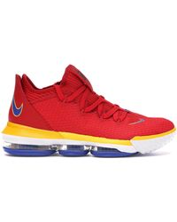 low priced 67f1a 382ee Nike Lebron 15 Low University Red for Men - Lyst