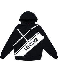 Supreme - Diagonal Hooded Sweatshirt - Lyst