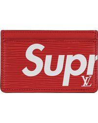 Supreme Louis Vuitton X Porte Carte Simple Epi - Red