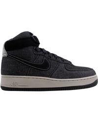 Nike Air Force 1 Hi Se Denim Black/dark Grey-cobblestone (w)
