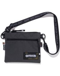 A Bathing Ape X Outdoors Products Mini Shoulder Bag - Gray
