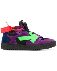 Off-White c/o Virgil Abloh - Off-court Low-top Leather Trainers - Lyst