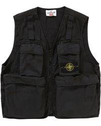 Supreme Stone Island Camo Cargo Vest - Black