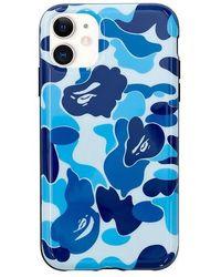 A Bathing Ape Abc Camo Iphone 11 Case - Blue