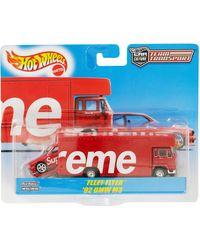 Supreme Hot Wheels Fleet Flyer + 1992 Bmw M3 - Red