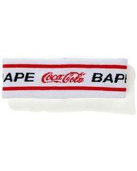A Bathing Ape X Coca Cola Headband - White