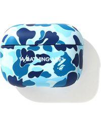 A Bathing Ape Abc Camo Airpods Pro Case - ブルー