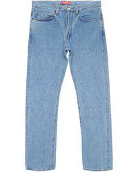 Supreme Stone Washed Slim Jeans - Blue