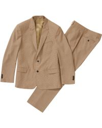 Supreme Plaid Suit Tan - Brown