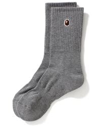 A Bathing Ape Socks Grey - Gray