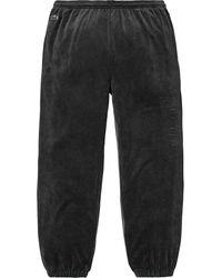 Supreme Lacoste Velour Track Pant - Black