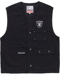 Supreme Nfl X Raiders X '47 Denim Vest - Black