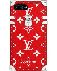 Supreme Louis Vuitton X Iphone 7 Plus Eye Trunk Red