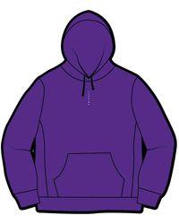 Supreme Micro Logo Hooded Sweatshirt - パープル