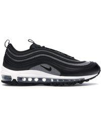 nike air max 97 trainers black black dark grey glitter