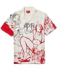 Supreme Rita Ackermann Rayon S/s Shirt - White