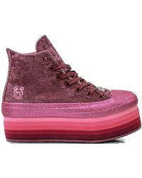 Converse - Chuck Taylor All-star Lift Hi Miley Cyrus Pink (w) - Lyst