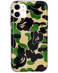 A Bathing Ape Abc Camo Iphone 11 Case - Green