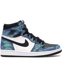 Nike 1 Retro High Tie Dye (w) - Blue