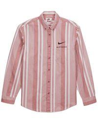 Supreme Nike Cotton Twill Shirt - レッド