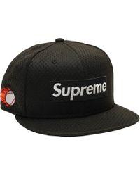 db8c8b71dbc80 Supreme - New Era Mesh Box Logo Cap Black - Lyst