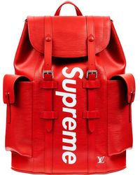 Supreme Louis Vuitton X Christopher Backpack Epi Pm - Red