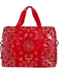 Supreme Bandana Tarp Large Duffle Bag - Red