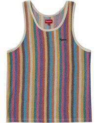 Supreme Knit Stripe Tank Top - Multicolour