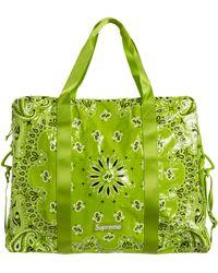 Supreme Bandana Tarp Large Duffle Bag - Green