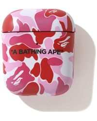 A Bathing Ape Abc Camo Airpods Case - Pink