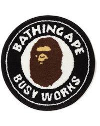 A Bathing Ape Busy Works Rug - Black