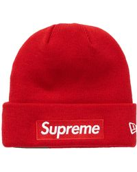 Supreme New Era Box Logo Beanie (fw18) - Red