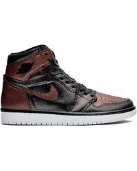 Nike Air Jordan 1 Hi Og Fearless Shoe - Black