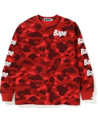 ce4c94388 Lyst - A Bathing Ape 1st Camo L/s Tee (fw18) Green in Green for Men ...