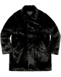 Supreme Hysteric Glamour Fuck You Faux Fur Coat - Black