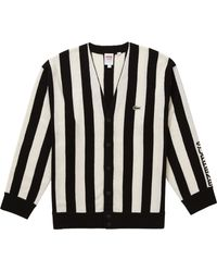 Supreme Lacoste Stripe Cardigan - Black