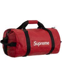 Supreme Nike Leather Duffle Bag - Red