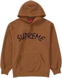 Supreme Ftp Arc Hooded Sweatshirt - Brown