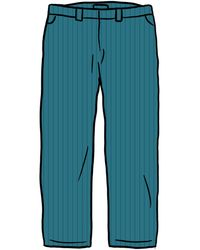 Supreme Work Pant (ss21) - ブルー