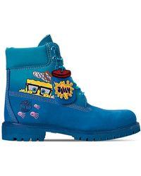 "Timberland 6"" Spongebob Blue - ブルー"