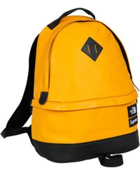 Supreme - The North Face Leather Day Pack Yellow - Lyst