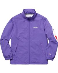 Supreme - Champion Track Jacket Light Purple - Lyst