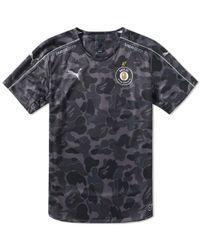 04e061f8662e A Bathing Ape - X Puma Abc Camo Fc Replica Jersey Shirt Black - Lyst