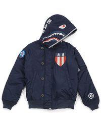 A Bathing Ape Nbhd N-2b Shark Jacket - ブルー