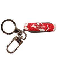 Supreme Louis Vuitton X Pocket Knife Key Chain - Red