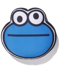 A Bathing Ape X Sesame Street Cookie Monster Flat Cushion - Blue