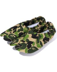 A Bathing Ape Abc Camo Japanese Socks Green