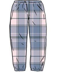 Supreme Tartan Flannel Skate Pant - ブルー